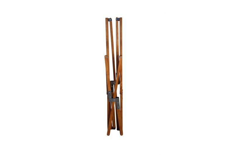 Tripolina cowhide chair, light brindle & light mahogany frame