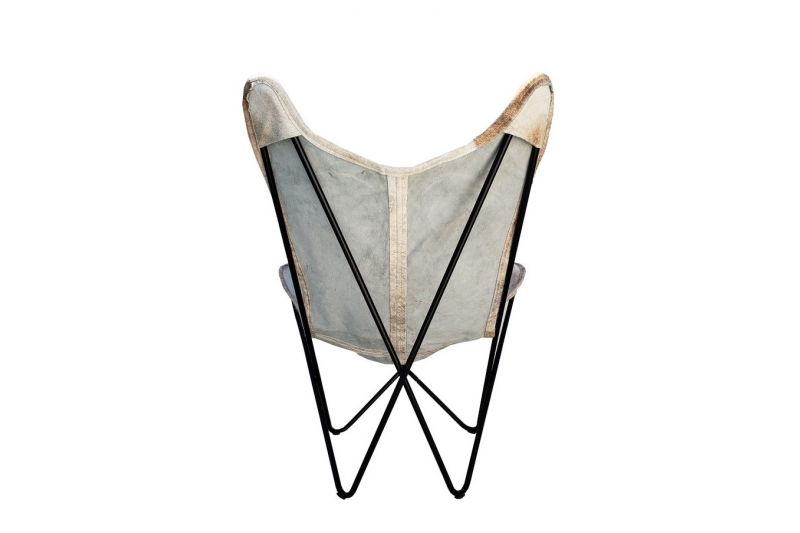 Butterfly 2020 light brindle cowhide chair - black frame