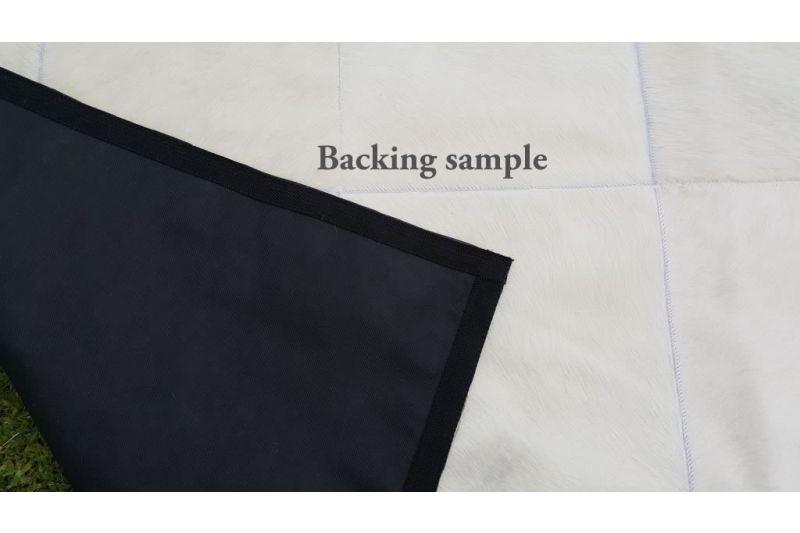 Grey triangles cowhide rug
