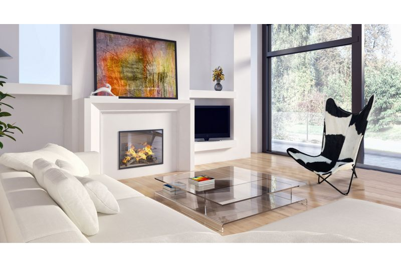 Butterfly 2020 black and white cowhide chair - black frame