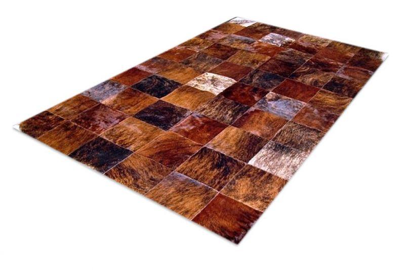 Shine brindle cowhide rug