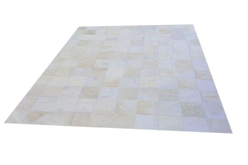 White cowhide rug