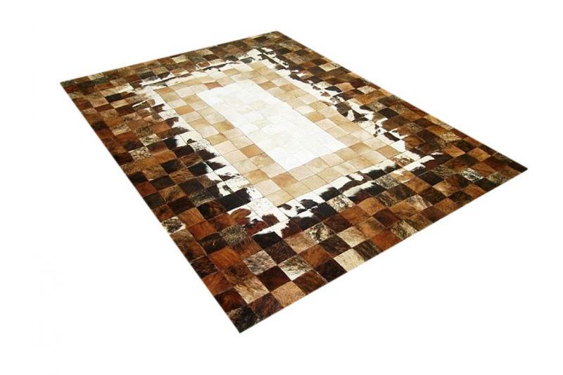 Earth cowhide rug