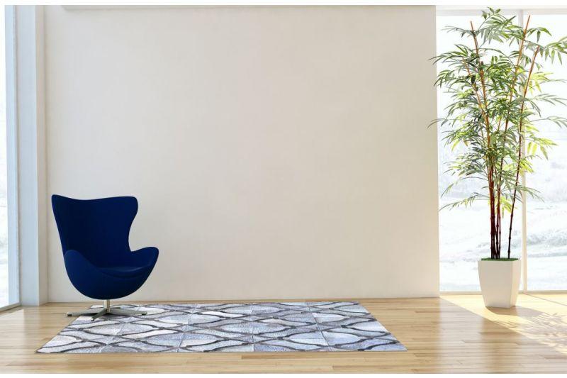 Grey exotic cowhide rug